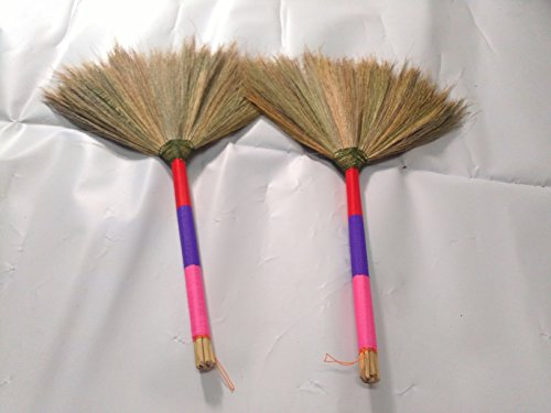 Many Colors Broom Straw Grass Broom Handle Made Wood Tied Thread Nylon (pink/purple/Red) (Power Broom Stihl compare prices)