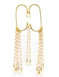 Aria Party Wear Pearl Dangler Cuff Earring. P27