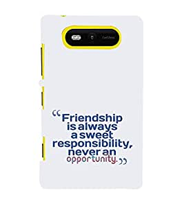 EPICCASE Sweet friendship Mobile Back Case Cover For Nokia Lumia 820 (Designer Case)