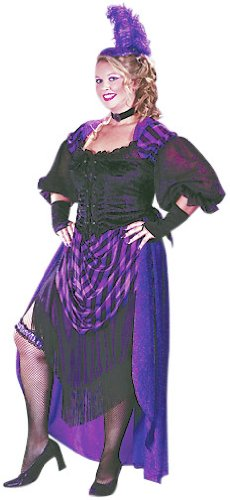 Womens Western Saloon Girl Halloween Costume Plus Size