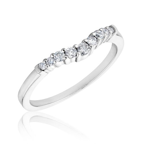 Curved Diamond Band 1/5ctw
