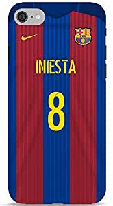 Andres Iniesta FC Barcelona Jersey Kit iPhone 7 Cover/Case