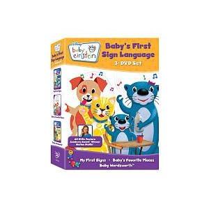 Baby Einstein Baby S First Sign Language Dvd Set My