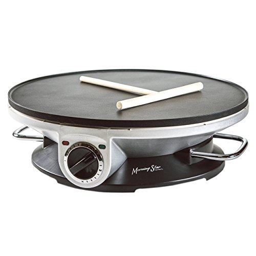 Find Discount Morning Star - Crepe Maker Pro - 13 Inch Crepe Maker & Electric Griddle - Non-stick Pa...
