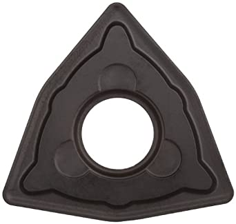 "Sandvik Coromant T-Max P Carbide Turning Insert, WNMG, Trigon, KM Chipbreaker, GC3205 Grade, Multi-Layer Coating, WNMG 432-KM, 1/2"" iC, 0.0315"" Corner Radius (Pack of 10)"