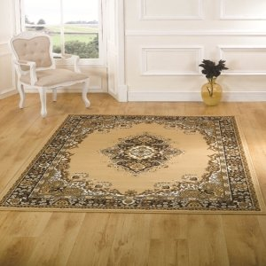 Element Lancaster Beige Contemporary Rug Rug Size: 220cm x 160cm (7 ft 2.5 in x 5 ft 3 in) by Flair Rugs