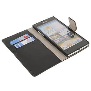 Tasche für Huawei Ascend G700 Book Style Schutz Hülle Buch schwarz