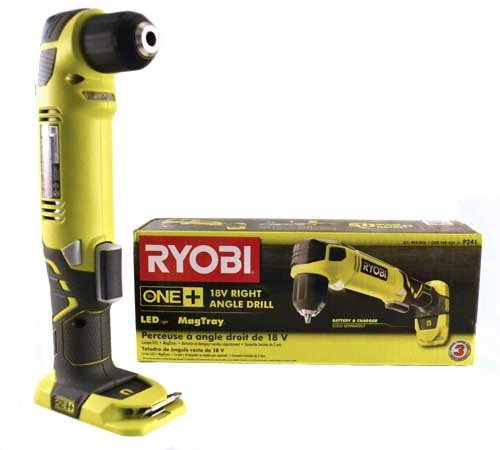 Best Price! Ryobi ZRP241 ONE Plus 18V Cordless 3/8 in. Right Angle Drill Battery and Charger not Inc...