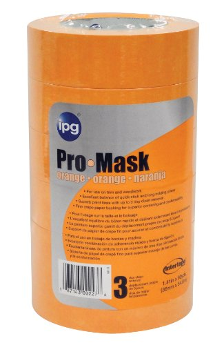 PMO36 1.41-Inch by 60-Yard Pro Mask Painter's Tape, Orange, 6-Pack