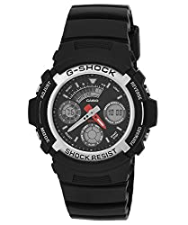 Casio G-Shock Analog-Digital Black Dial Mens Watch - AW-590-1ADR (G219)