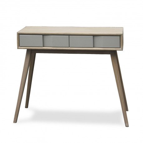 VERSA - Table d entree console bois gris Versa Arvika