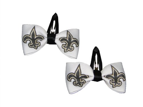Set of Two Hair Clips - ALL 32 NFL TEAMS (New Orleans Saints) at Amazon.com