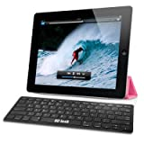 EC TECHNOLOGY® Super Slim Mini Bluetooth 3.0 Wireless Keyboard for iPad 1 / 2 / 3, iPhone 4 / iPhone 4S, PC, Notebook, Smartphone with Android 3.0 above, Windows(with bluetooth) - Black color
