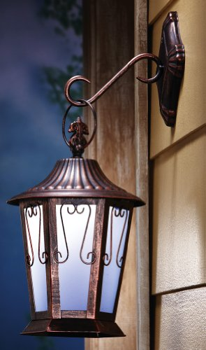 Antique-Look Solar Hanging Door Lantern By Collections Etc
