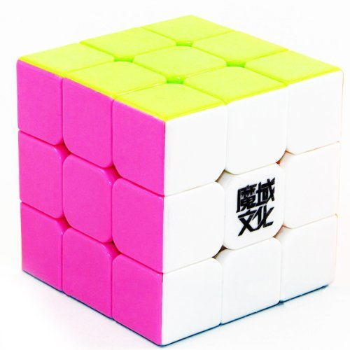 3x3x3 YJ Moyu Weilong Plus 57mm Stickerless Version 2 Speed Cube Puzzle New V2 3x3 - 1