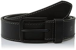 Haggar Men's 40MM Retro Belt, Black, 32