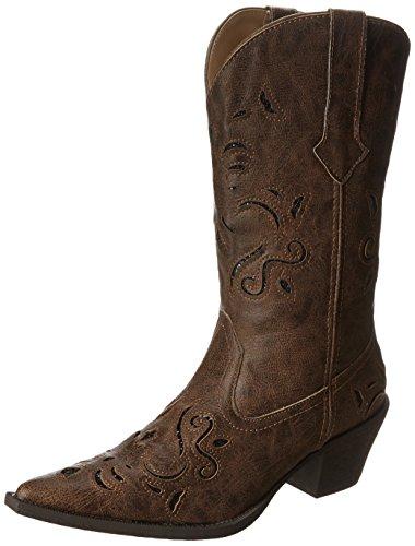 Roper Western Boots Womens Glitter Brown 09-021-1556-0766 BR