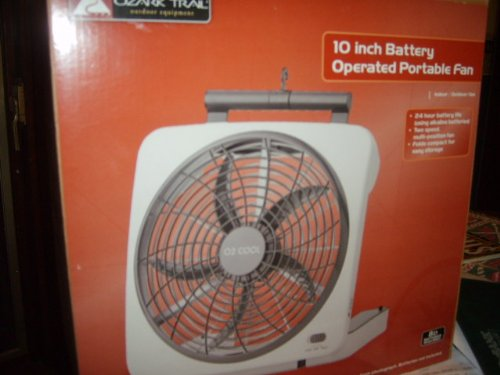 10 Inch Fan : Battery operated fans ozark trail o cool inch