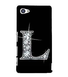 Alphabet L 3D Hard Polycarbonate Designer Back Case Cover for Sony Xperia Z5 Compact :: Sony Xperia Z5 Mini