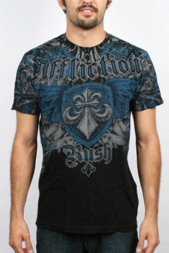 Affliction - Mens GSP Style Signature Series T-Shirt in Black, Size: Small, Color: Black
