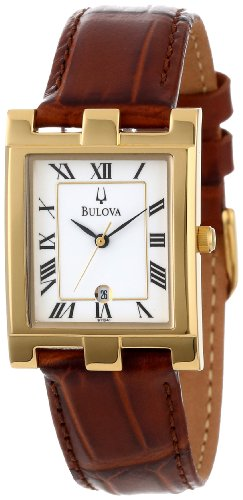 Bulova Men's 97B41 White Dial Calendar Watch