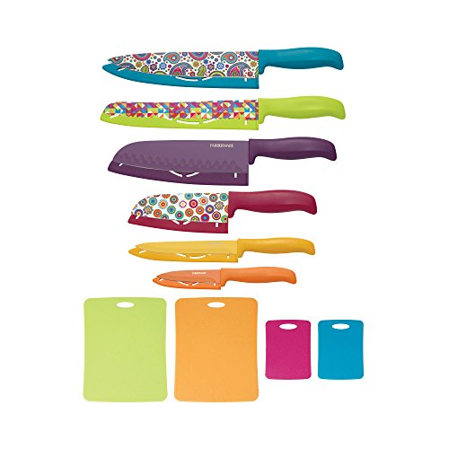 Farberware 16-Piece Runway Resin Knife and Cutting Board Set, Assorted (Carbon Coated Knife compare prices)