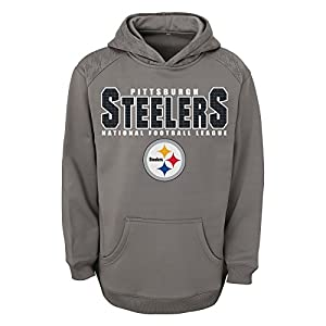NFL Pittsburgh Steelers Youth Boss Fleece Hoodie (Age 4-18) from Outerstuff/Adidas Licensed Youth Apparel