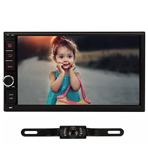 NAVISKAUTO 7 Inch 1024600 Quad Core 2 Din Android 4.4.4 Touch Screen Car Stereo In Dash GPS Navigation with Backup Camera Support BT/WIFI/3G/SW-Control/Mirror Link WITHOUT DVD Player(RQ0255+Y0811) (Radio With Backup Car Camera compare prices)