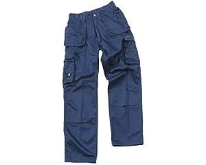 "Castle Clothing Mens Tuffstuff Prowork Trousers 711 Navy Blue 28 - 30""Leg"