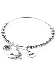 M&S Collection Silver Plated Assorted Charm Bangle