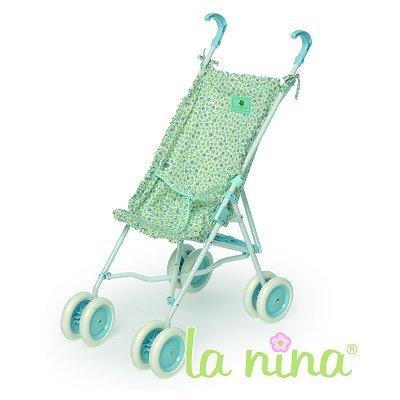 La Nina Poussette Canne grand modèle pour poupée - Fleurs turquoises : Marta