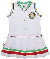 Absorba Baby Girls' Dress ( Green_2-3 Years ,60011)