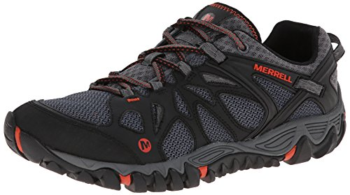 Merrell ALL OUT BLAZE AERO SPORT, Scarpe da trekking medio uomo, Mehrfarbig (BLACK/RED), 42