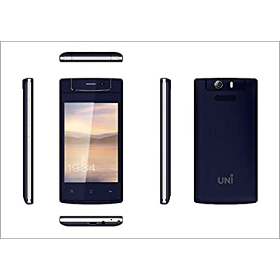 UNI N6100 Three SIM Feature Phone with Touch Screen-Blue
