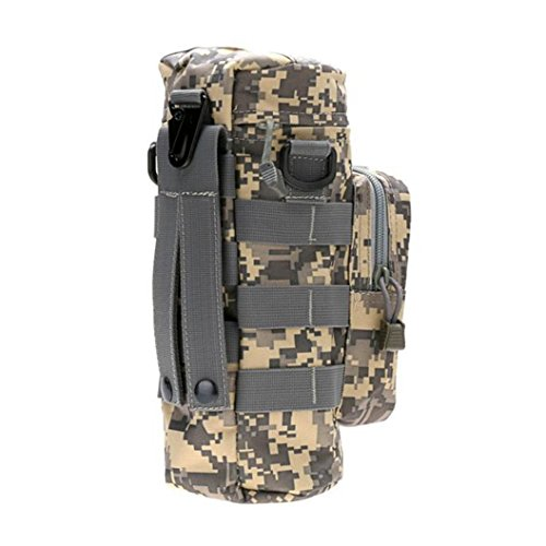 DEESEE(TM) Camping Water Bottle Bag Leisure Molle Suspension Adjustable Universal Package Kettle (B) (High Waist Griddle compare prices)