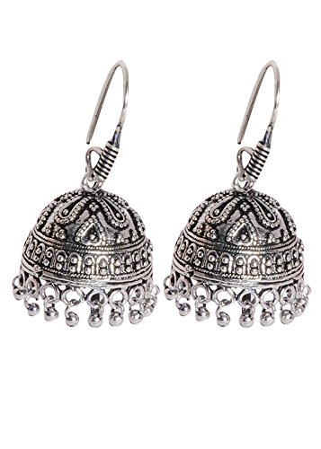 Abhooshan Jhumkis in Silver Alloy