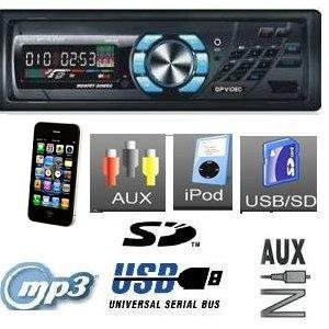 MP3, WMA, AM/FM Car Stereo Receiver Digital Media w/USB Port/SD Card Reader AUX IN Direct USB Control for iPod/iPhone ------DP-DR105 XO Vision XD102(NO CD PLAYER)612UA/ DEH-1300MP/Dual XR4110 /PYLE PLR24MPF/CDXGT340 /DEH-6300UB/GMP2