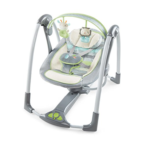 Ingenuity Power Adapt Portable Swing, Vesper/Grey (Baby Swing With Ac compare prices)
