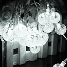 Solar 30 LED Outdoor Waterproof Party String Fairy Light Festival Ambience Lights-Pure White