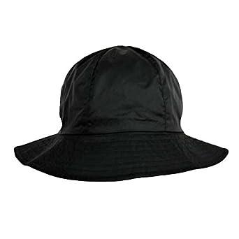 Luxury Divas Reversible Black Bucket Style Rain Hat