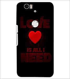 PrintDhaba Quote D-4412 Back Case Cover for HUAWEI NEXUS 6P (Multi-Coloured)