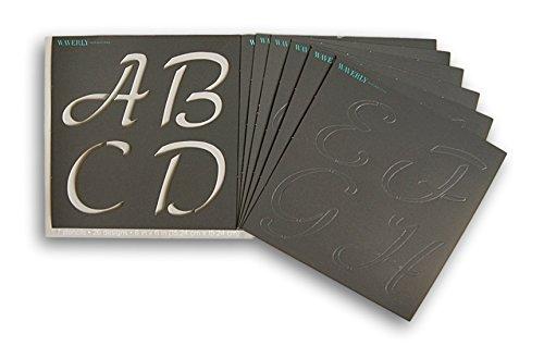 Waverly Inspirations Laser Cut Alpha Basic Script Alphabet Stencils – 6″ x  6″