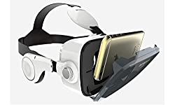 DOMO VR10 nHance 120 FOV Virtual Reality Universal 3D and Video VR Headset Inbuilt Sterio Headphone for Smart Phones upto 6 inch - Inspired by Google Cardboard, Oculus Rift and Samsung Gear also for TheaterMax Lenovo K4 Note, Redmi MI Note 3, Oneplus, iPhone, Le TV, Android