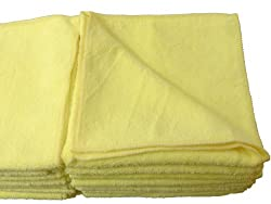 Eurow Microfiber DeLuxe 16in x 16in 320 GSM Cleaning Towels 24-Pack