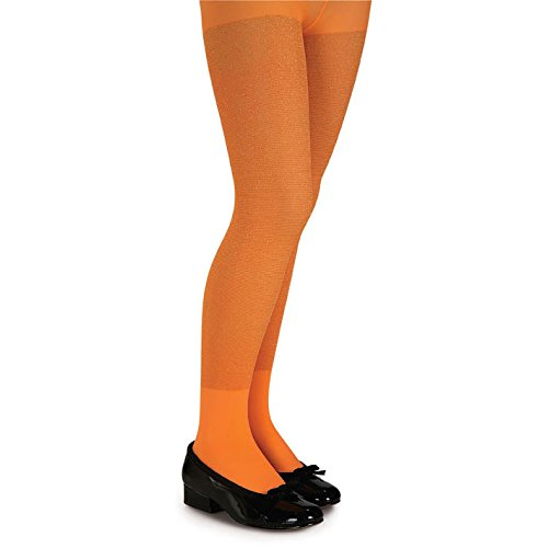 Rubie's Costume Co Glitter Tights-Orange Costume, Large