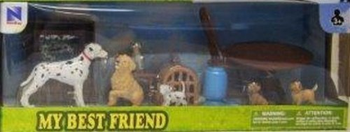 New Ray My Best Friend Dalmation/Golden Retriever Play Set - 1
