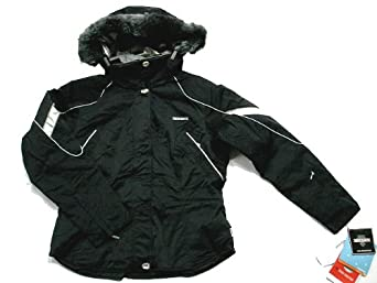Buy New Descente Ladies Insulated Hooded Ski Jacket - Nicobar #D5-9620 - Black by Descente