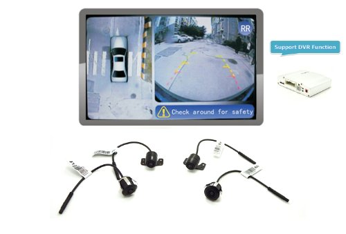 iParaAiluRy 360 Around View Parking Assist Universal for All Cars with DVR function & Bird's-eye View Parking Aid - VE-GN304