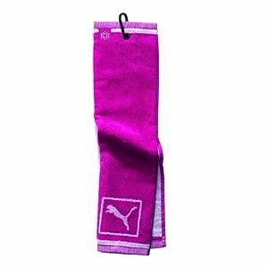 Puma Tri-Fold Club Towel, One Size, Beetroot Purple