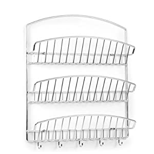 Spectrum 31770 Pantry Works 3-Tier Wall Mount Letter Holder, Chrome